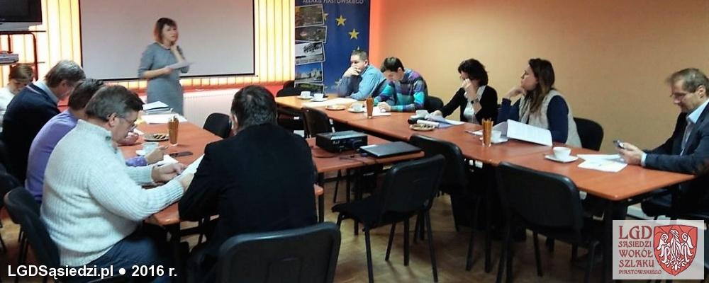 LGD Sąsiedzi - Rada oceniająca wnioski po pierwszych szkoleniach